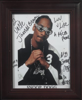 Snoop Dog Signed Photograph