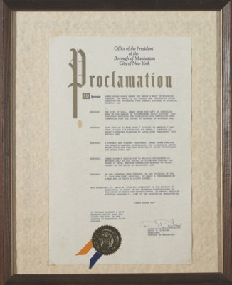 James Brown Proclamation