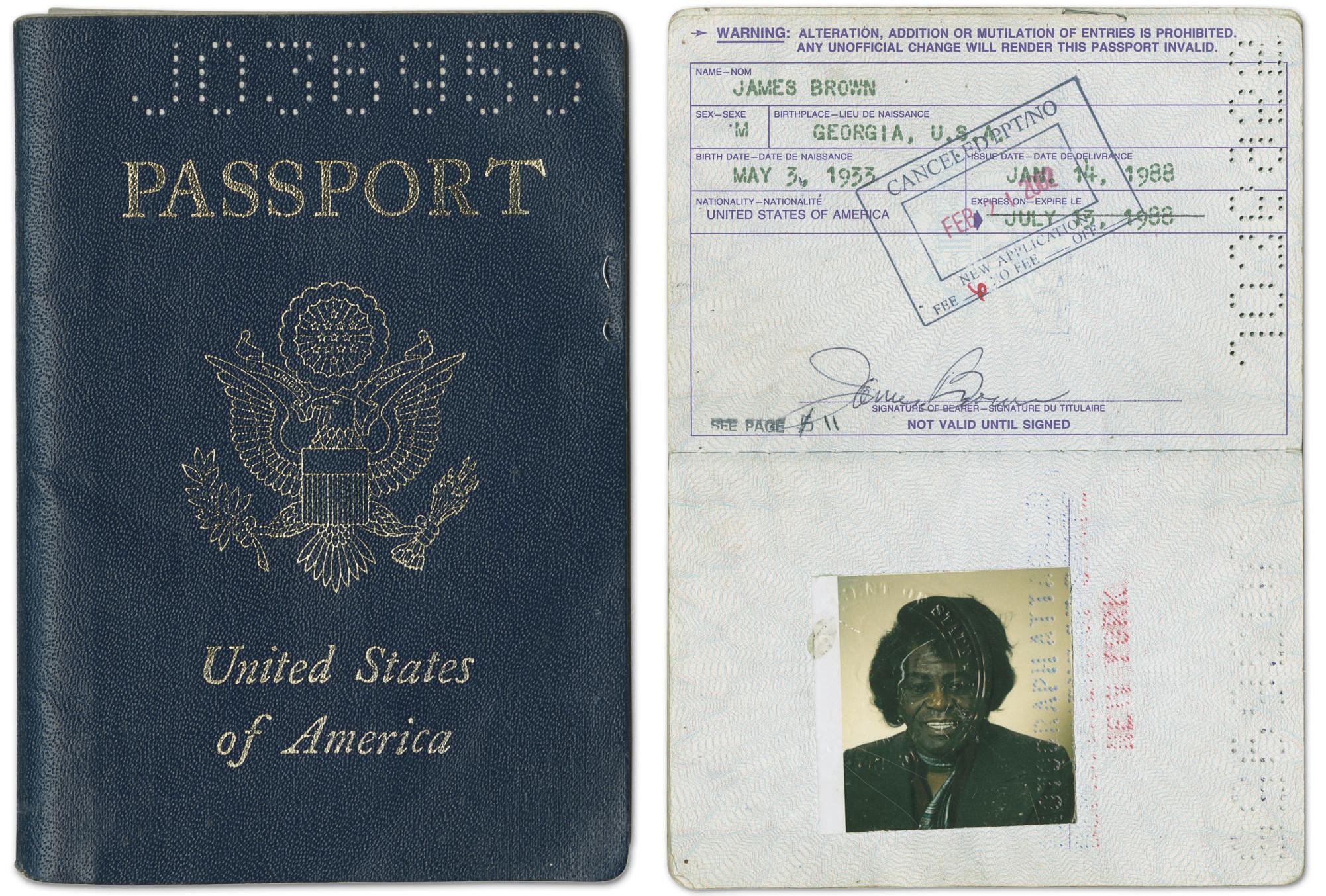 James Brown Passport