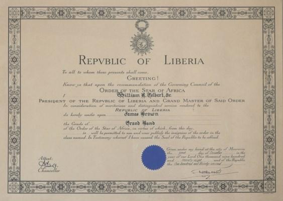 Republic of Liberia Award