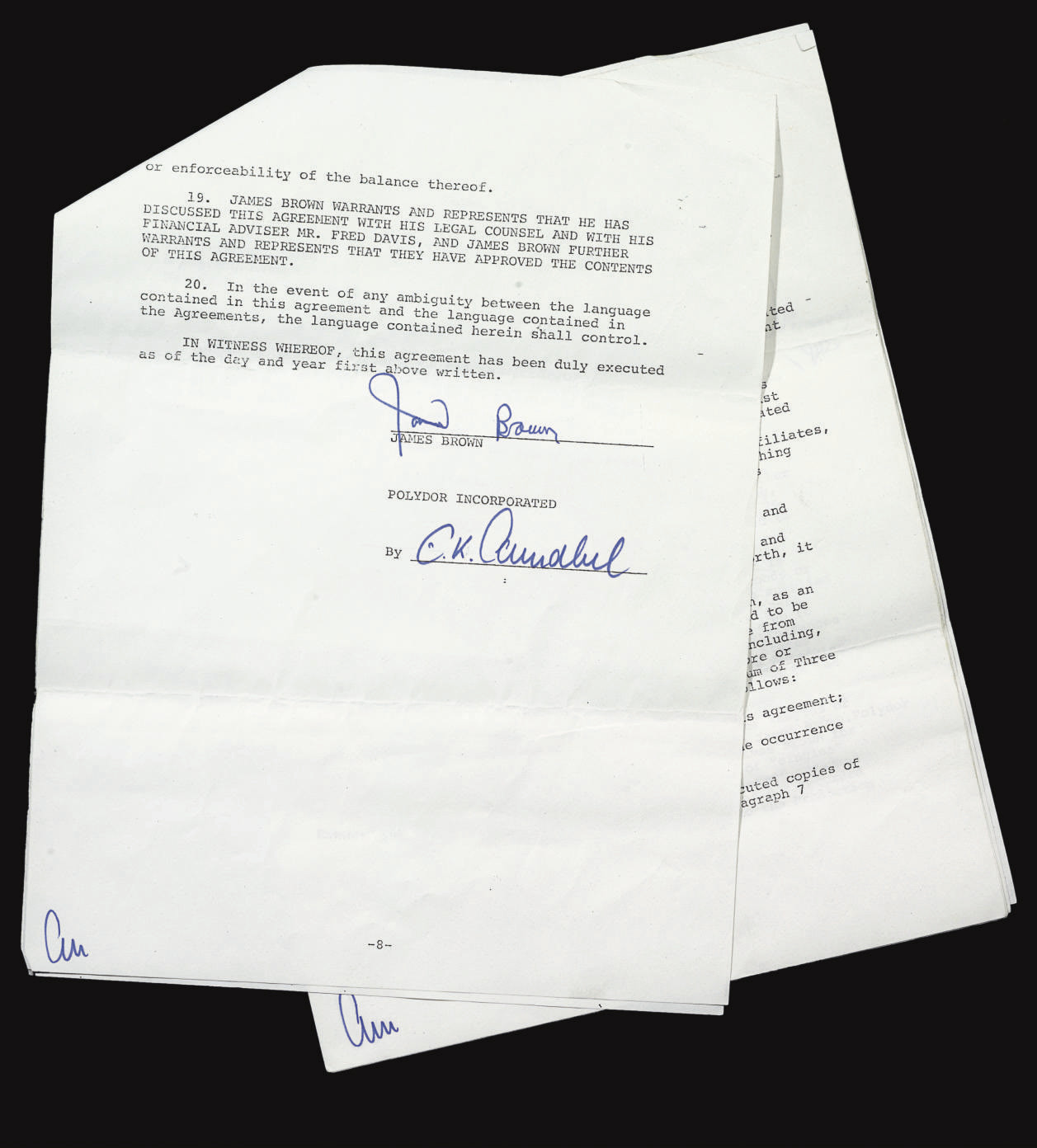 Signed Agreement