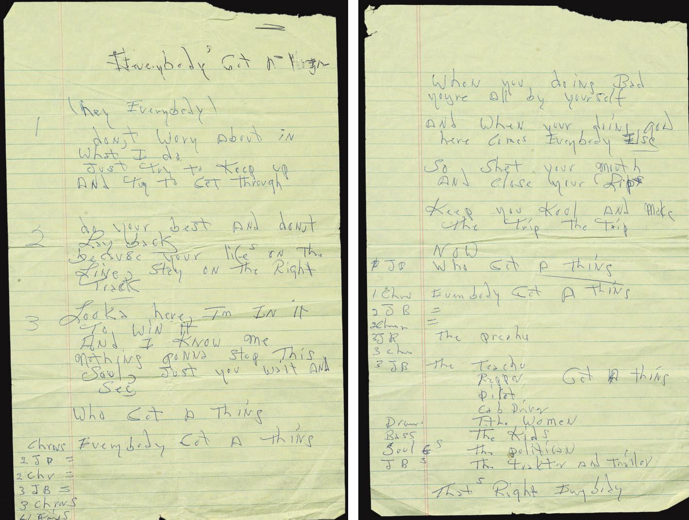 Handwritten Lyrics