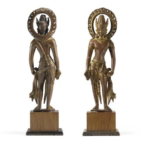 An Important gilt copper figur