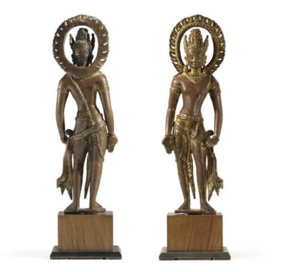 An Important gilt copper figur
