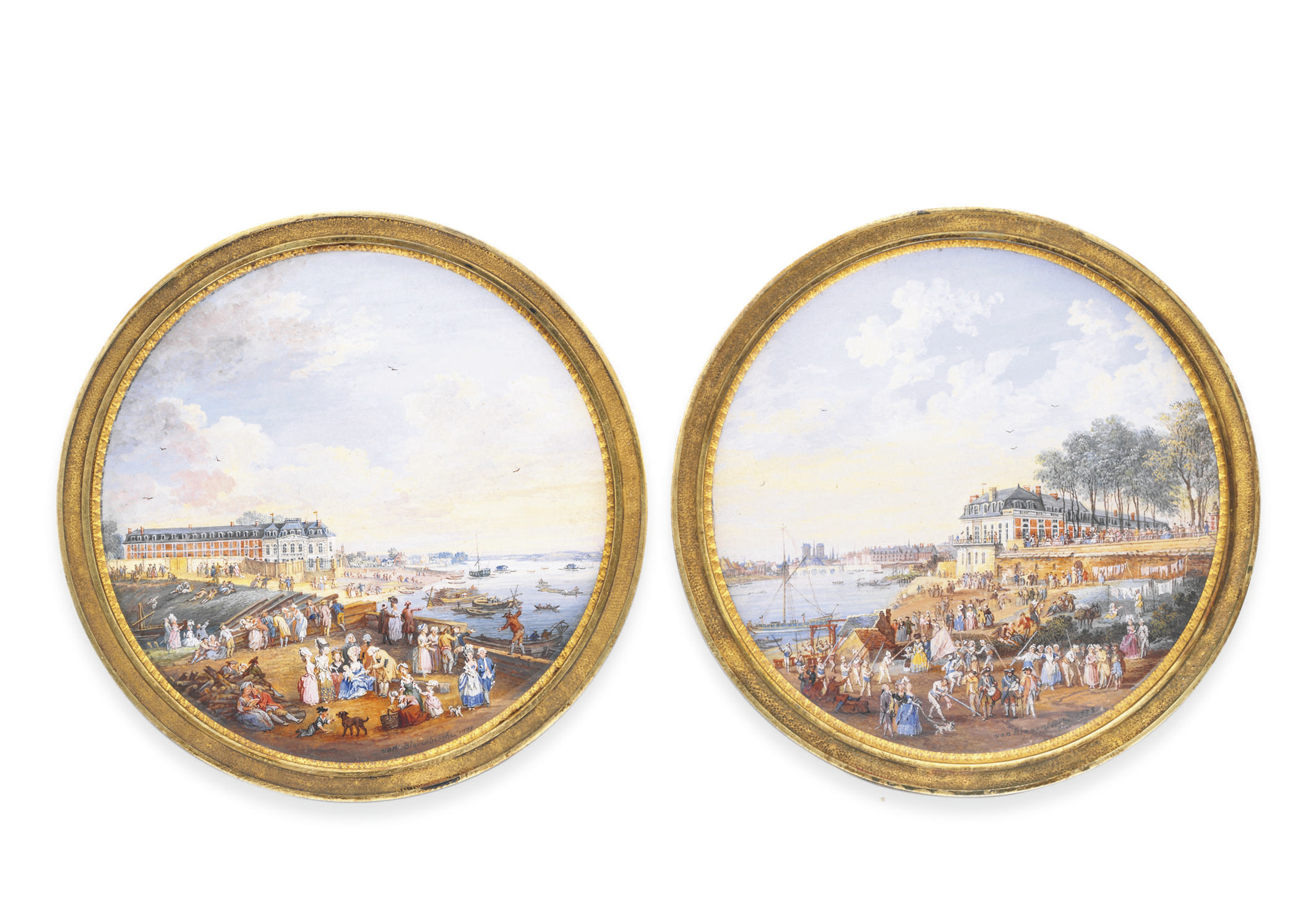 A PAIR OF PAINTED MINIATURES,