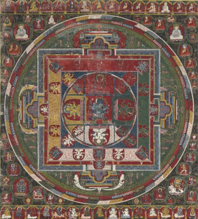 An Important thangka of the Ak