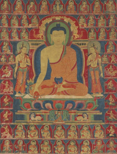 An Important Thangka of Bhaish
