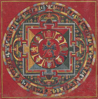 An Important thangka of the Ch