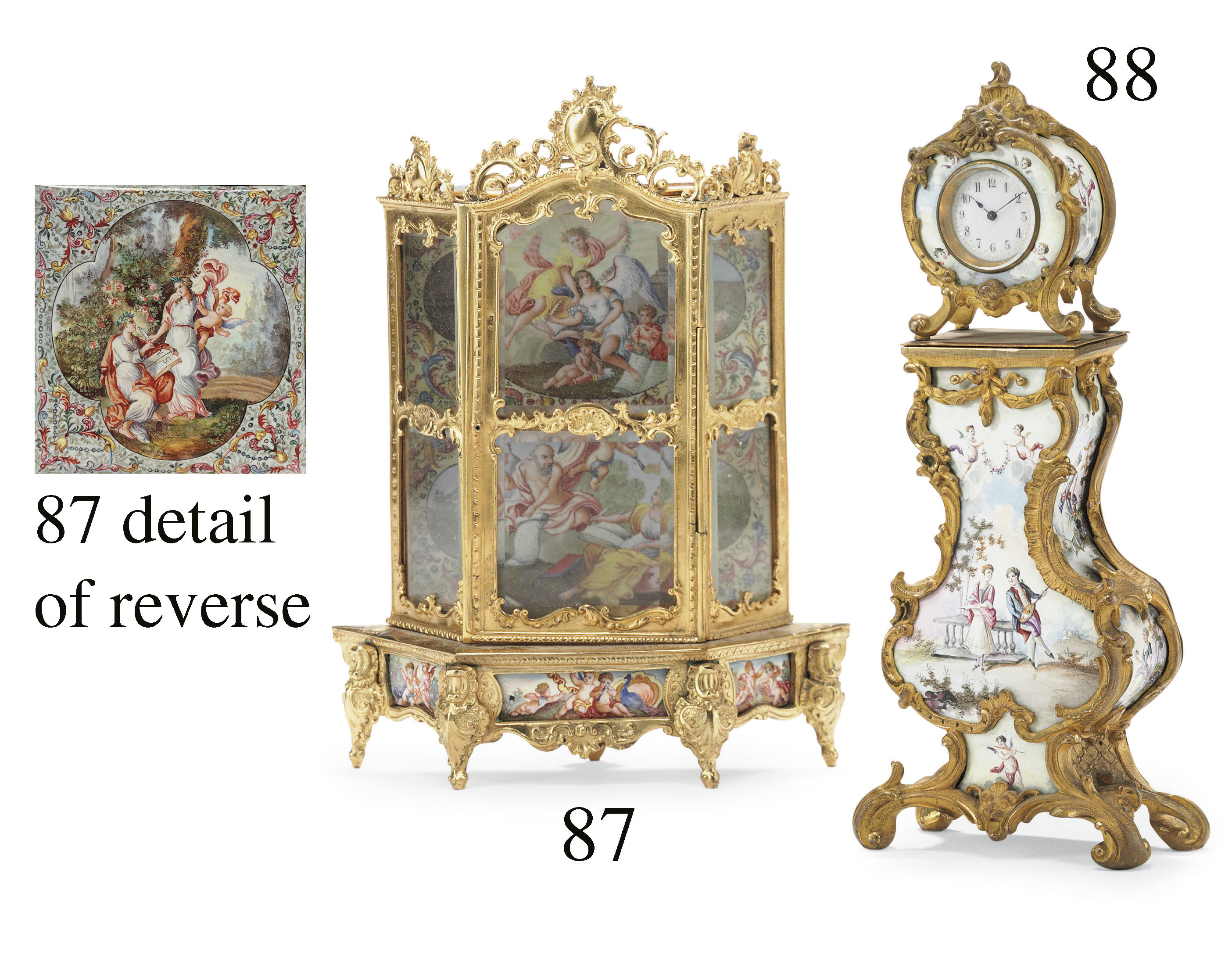 A VIENNESE GILT-METAL AND ENAM