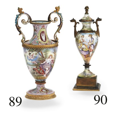 A VIENNESE GILT-BRONZE AND ENA
