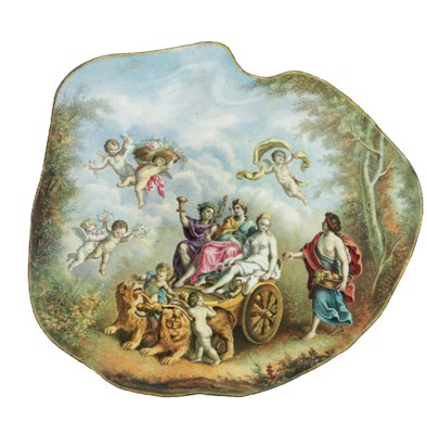 A VIENNESE ENAMEL SHELL-FORM D