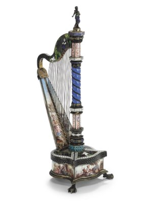 A VIENNESE SILVER AND ENAMEL H