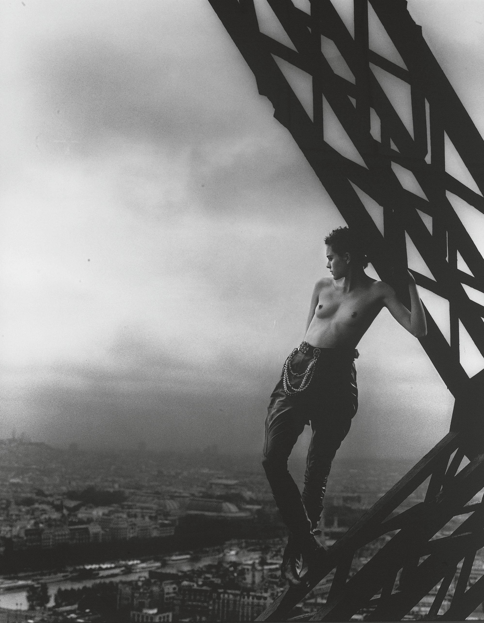 Mathilde, Tour Eiffel, Paris, for Rolling Stone, 1989