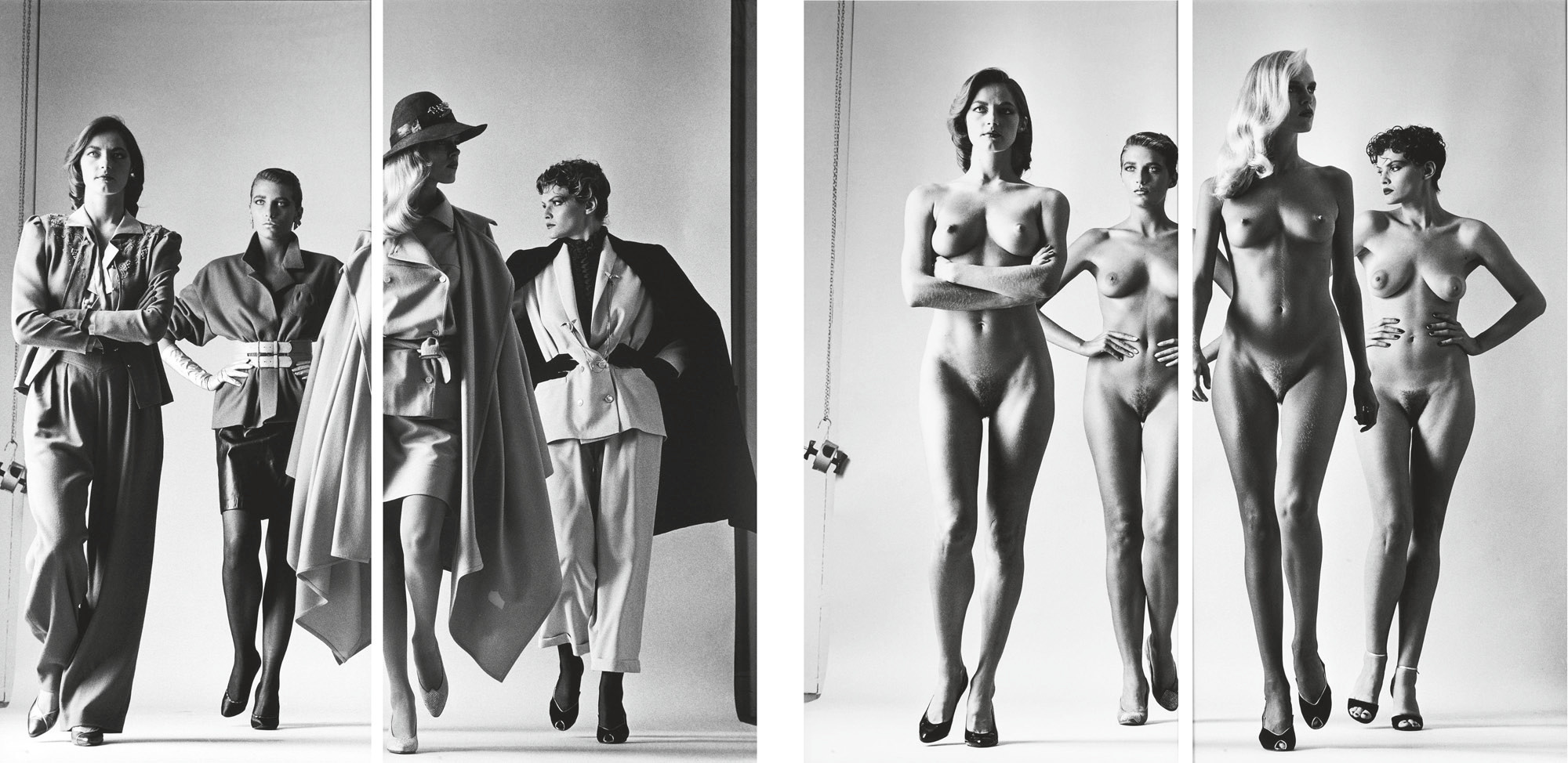 Sie Kommen, Paris (Naked and Dressed), Vogue Studios, 1981