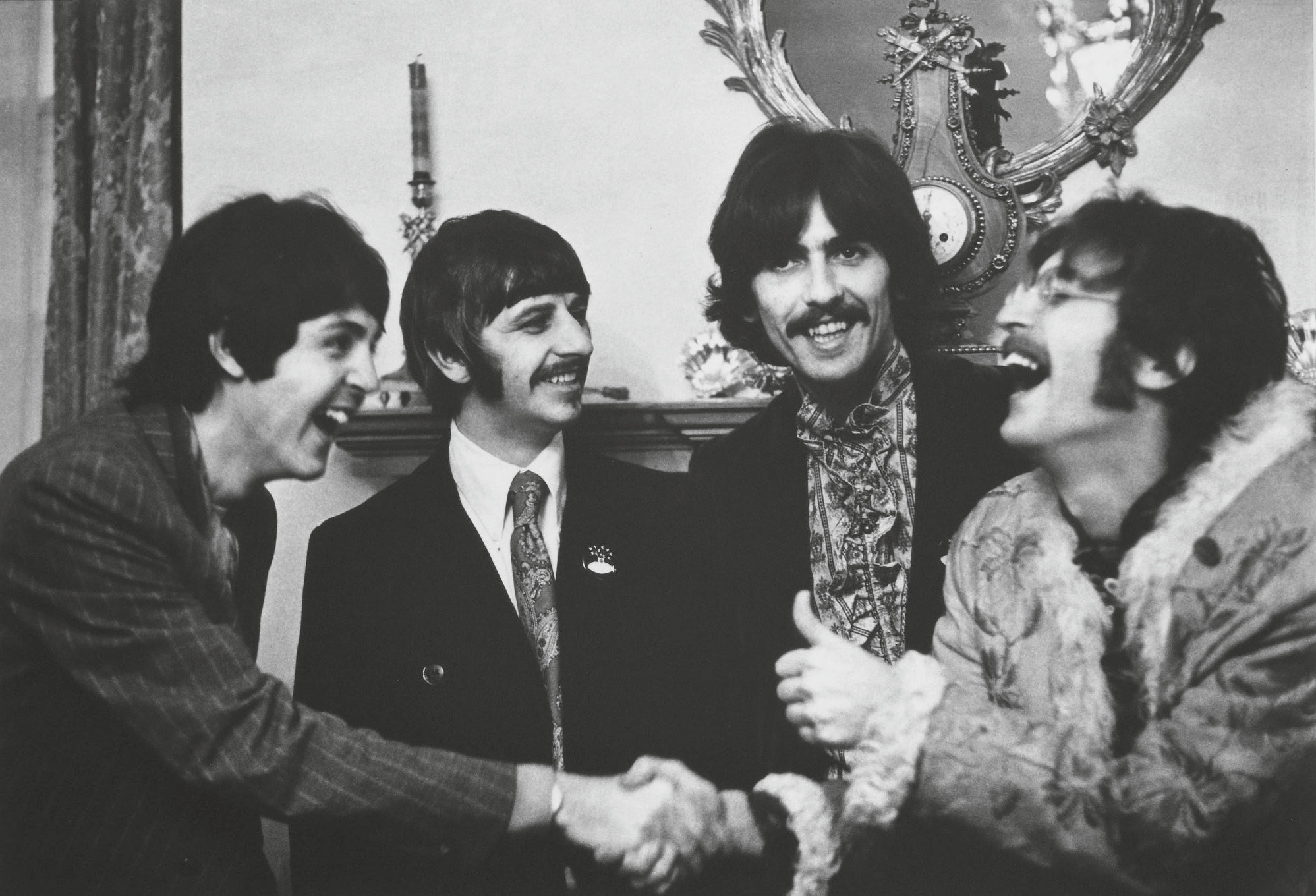 The Beatles at the launch of Sgt Pepper, London, 1967