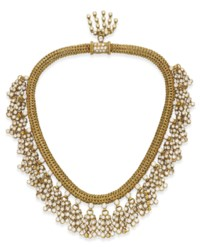 """A RETRO DIAMOND AND GOLD """"PASSEMENTERIE"""" NECKLACE, BY RENE BOIVIN"""