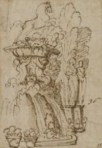 Une étude de fontaine avec un cheval