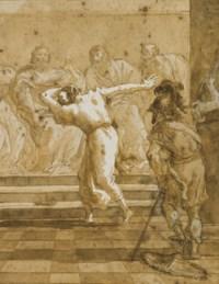 Judas rendant la récompense aux prêtres