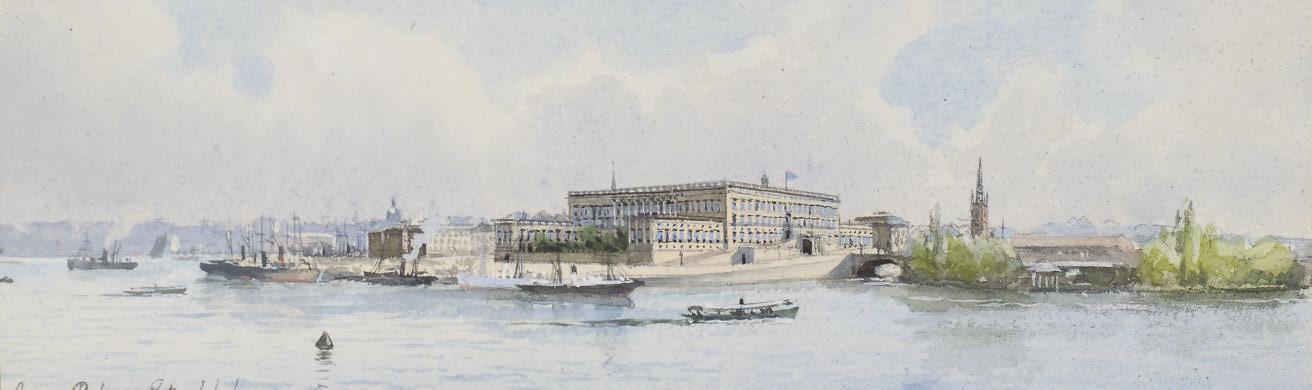 Vue du Palais Royal de Stockholm