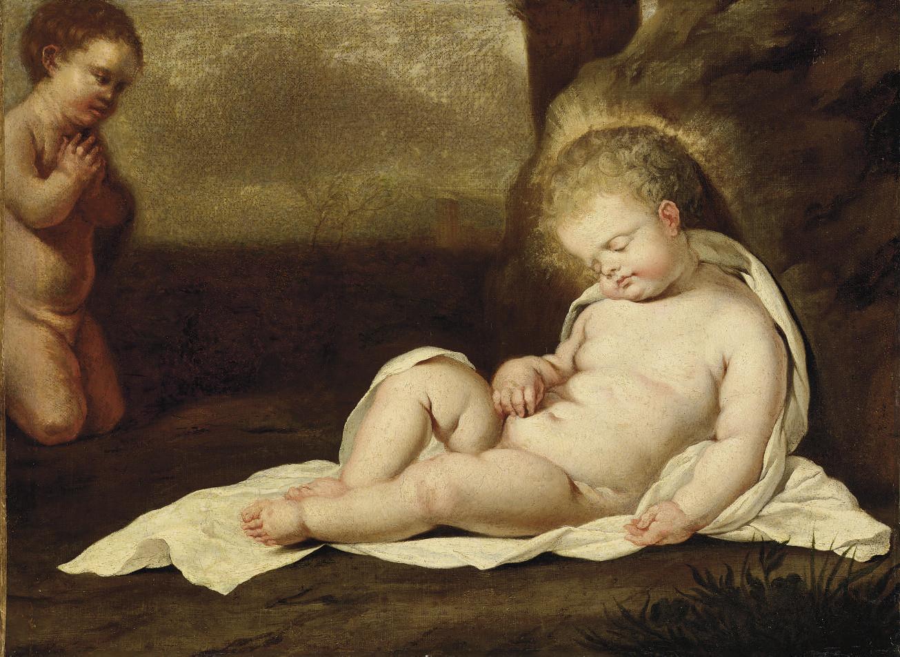 Le Christ Enfant endormi avec saint Jean-Baptiste