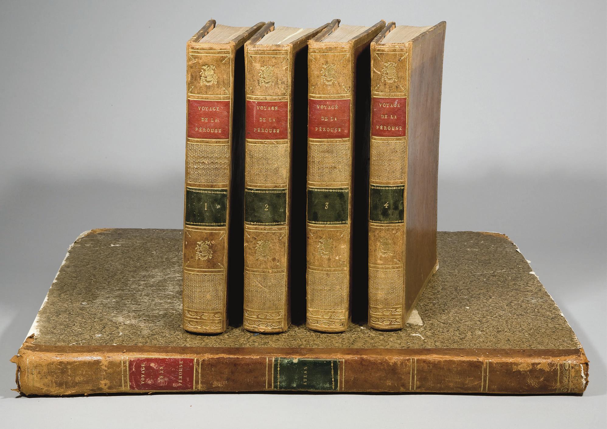 LA PÉROUSE, Jean-François de Galaup, comte de (1741-1788?). Voyage de La Pérouse autour du monde, publié conformément au décret du 22 avril 1791, et rédigé par M. L. A. Milet-Mureau. Paris: Imprimerie de la République, An V (1797).