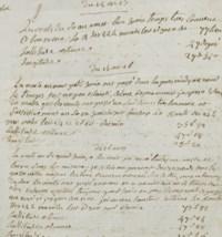 LA PÉROUSE, Jean-François de Galaup, comte de (1741-1788?). Fragment d'un journal de bord. 2 pages in-8 sur un feuillet (195 x 182 mm). (Feuillet coupé en pied avec manque de texte). S.d.