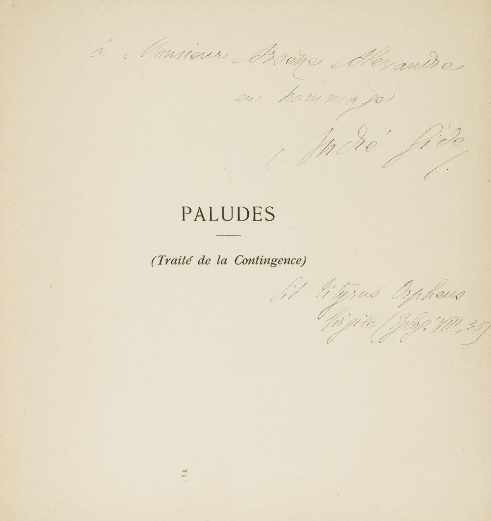 GIDE, André (1869-1951). Palud