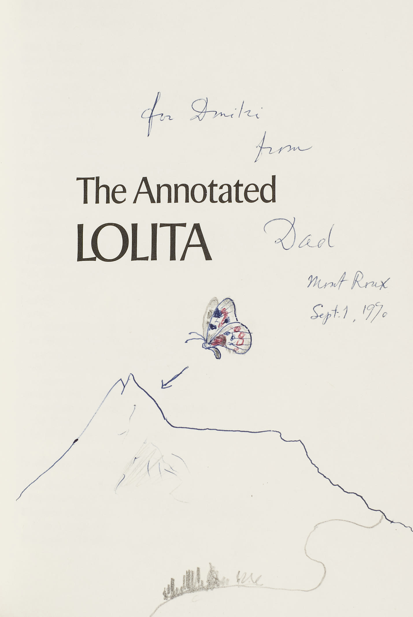 NABOKOV, Vladimir (1899-1977). The Annotated Lolita. New York, Toronto: McGraw-Hill Book Company, [1970].