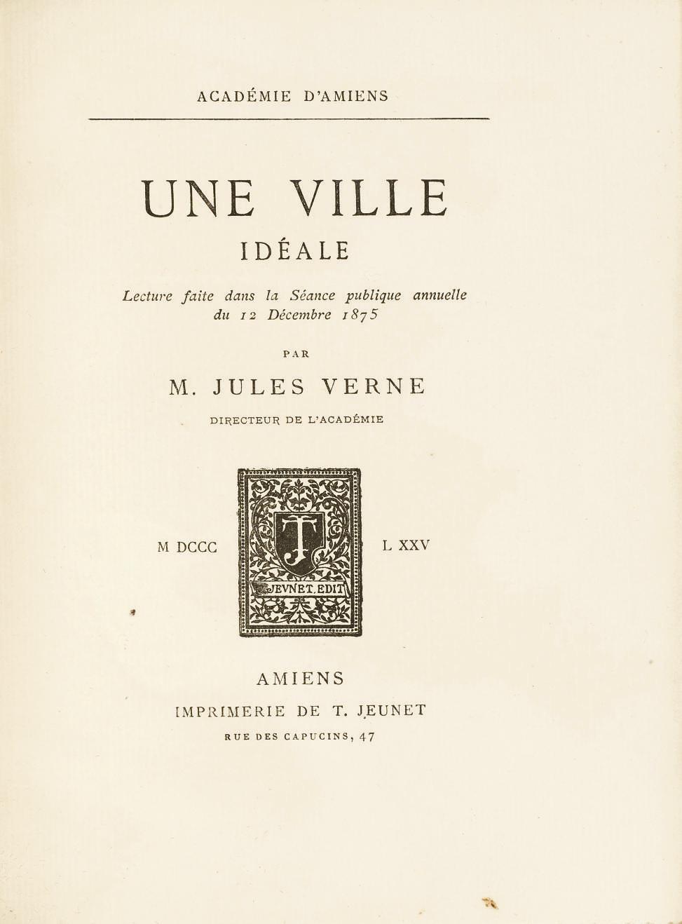 [VERNE, Jules (1828-1905).] Un
