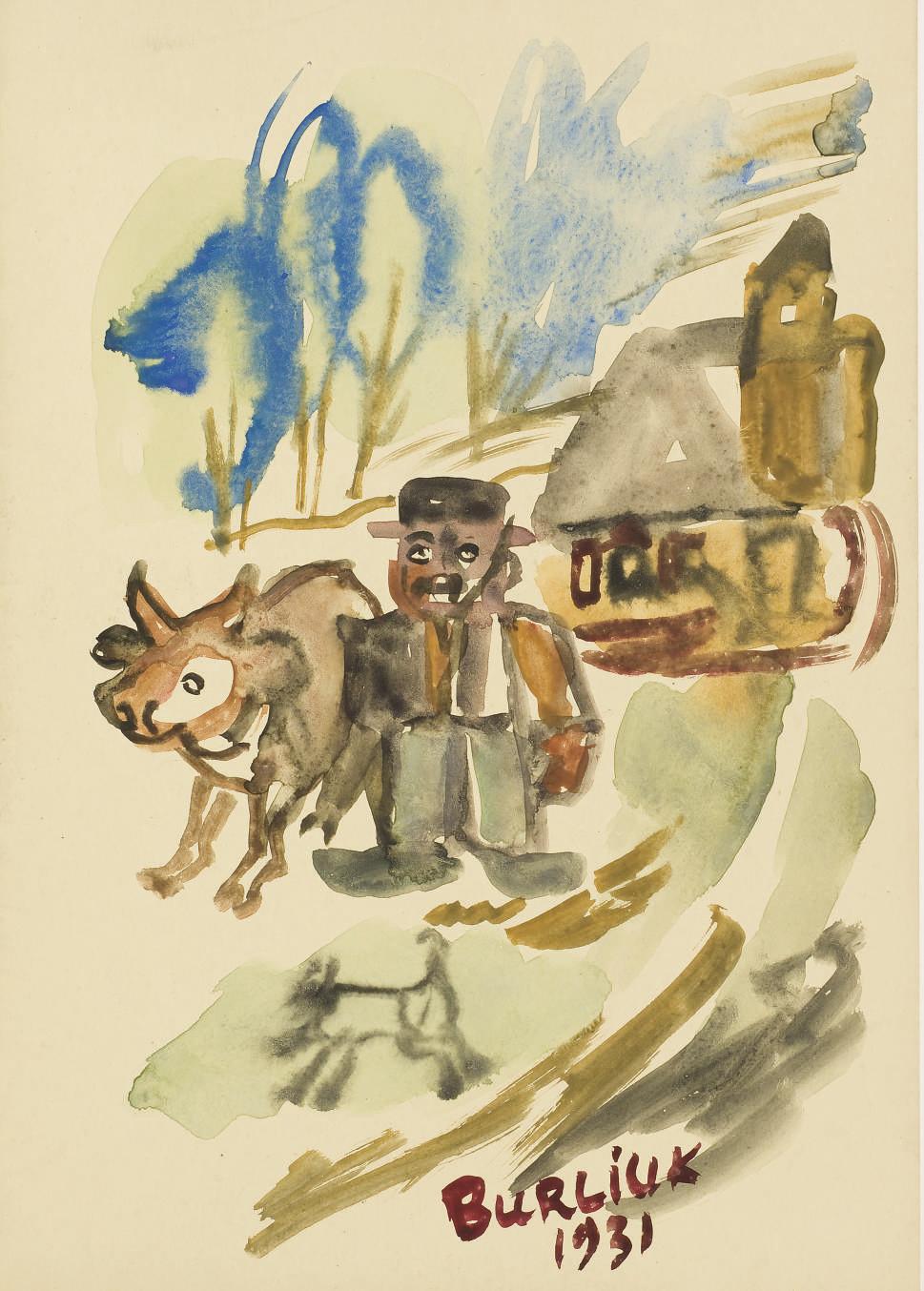 [AVANT-GARDE RUSSE] -- Réunion de deux plaquettes illustrées par BURLIUK. New York: 1931.