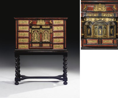 CABINET FLAMAND D'EPOQUE BAROQ