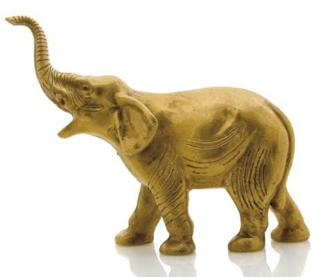 STATUETTE ELEPHANT EN OR