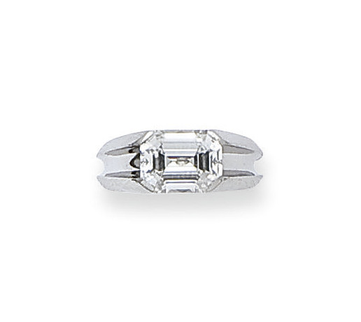 BAGUE DIAMANT, MONTEE PAR CART