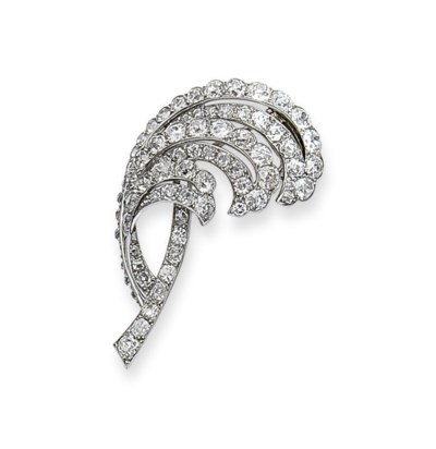 BROCHE DIAMANTS, MONTEE PAR CA