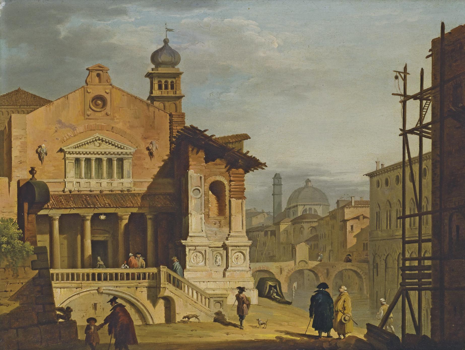 Vue d'une église italienne