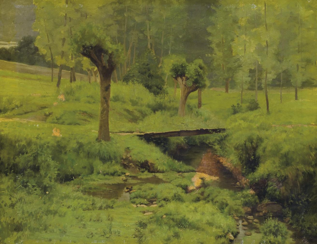 Pont sur le ruisseau