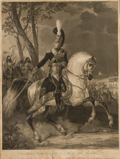 Charles Ferdinand, Duc de Berri par Jean-Pierre-Marie Jazet (Le Blanc 100)