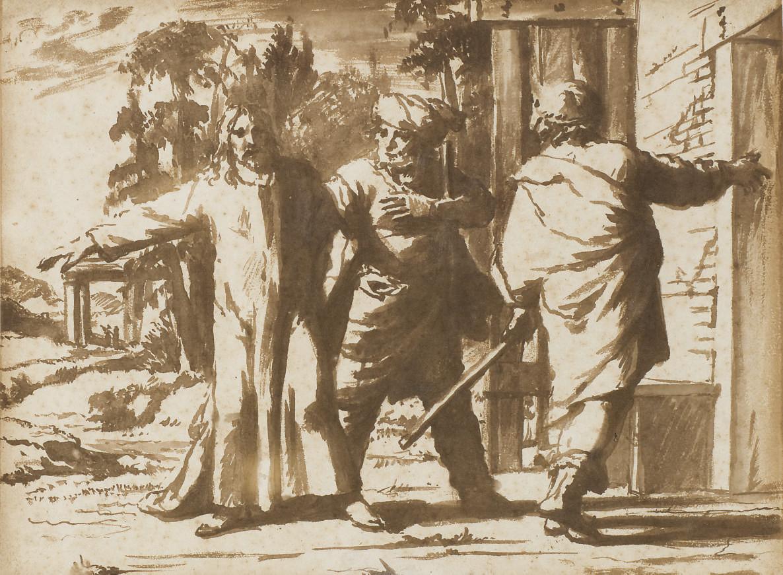 Le Christ et deux disciples à Emmaüs