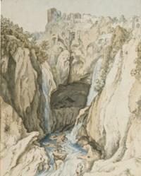 Vue des cascades de Tivoli