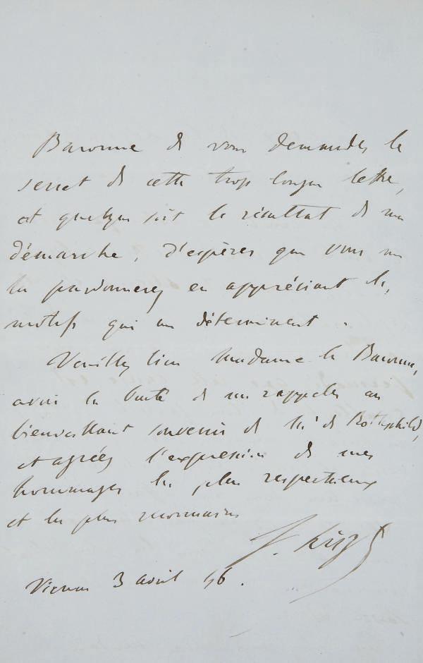 LISZT, Franz (1811-1886). Réun