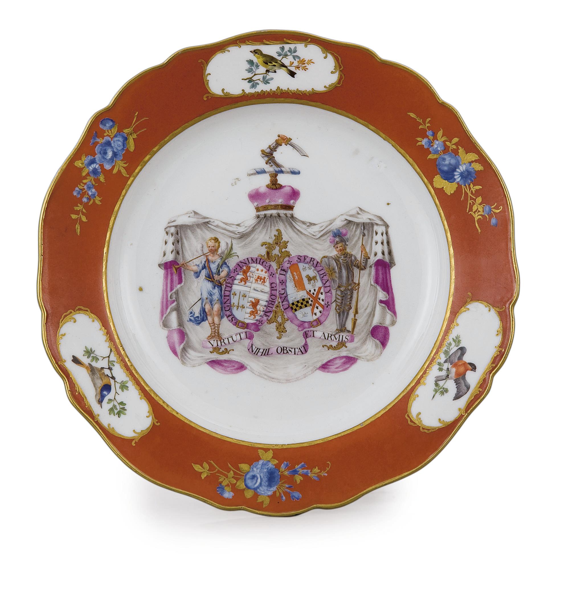 Peinture Sur Porcelaine Assiette assiette armoriee en porcelaine de meissen du xviiieme