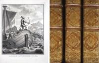 RABELAIS, François (1494?-1553). Oeuvres de maître François Rabelais, avec des remarques historiques et critiques de Mr. Le Duchat. Nouvelle édition. Amsterdam: Jean Frédéric Bernard, 1741.