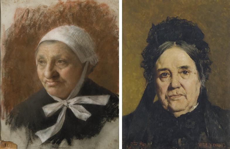 Portrait d'une vieille femme à la coiffe
