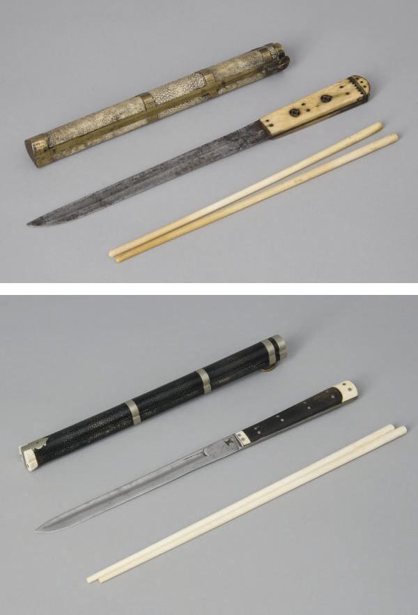 DEUX ETUIS A BAGUETTES, JAPON