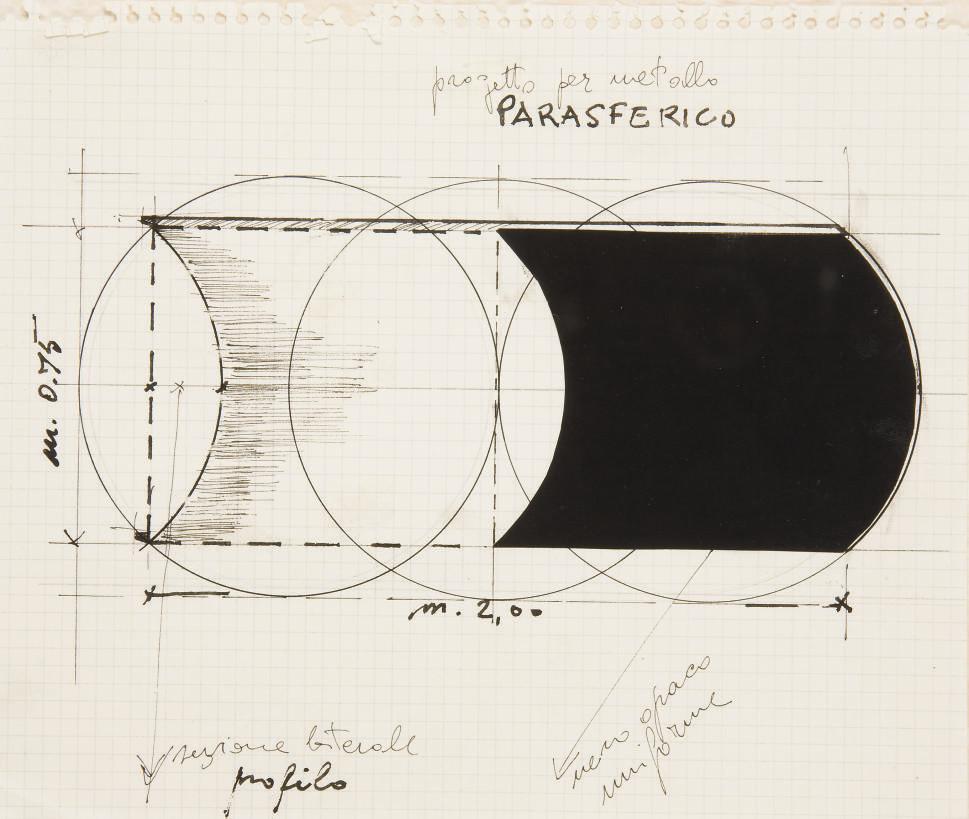 Progetto per metallo parasferico