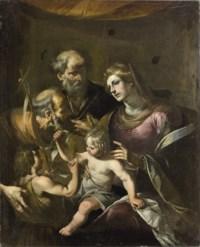 Sacra Famiglia con San Giovannino e San Pietro