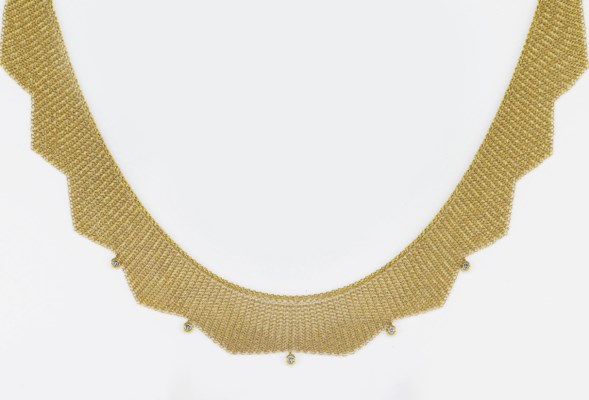 COLLANA IN ORO E DIAMANTI, FIR