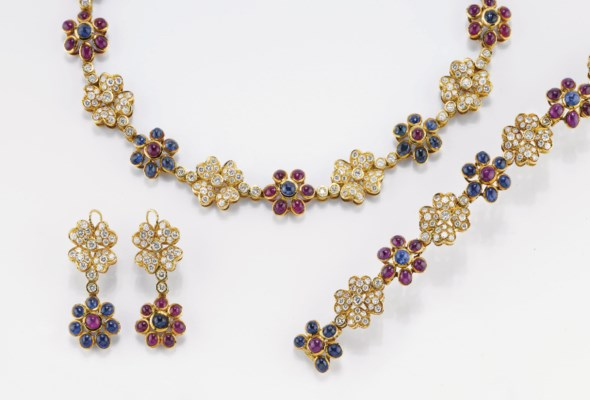 PARURE IN ORO CON BRILLANTI E