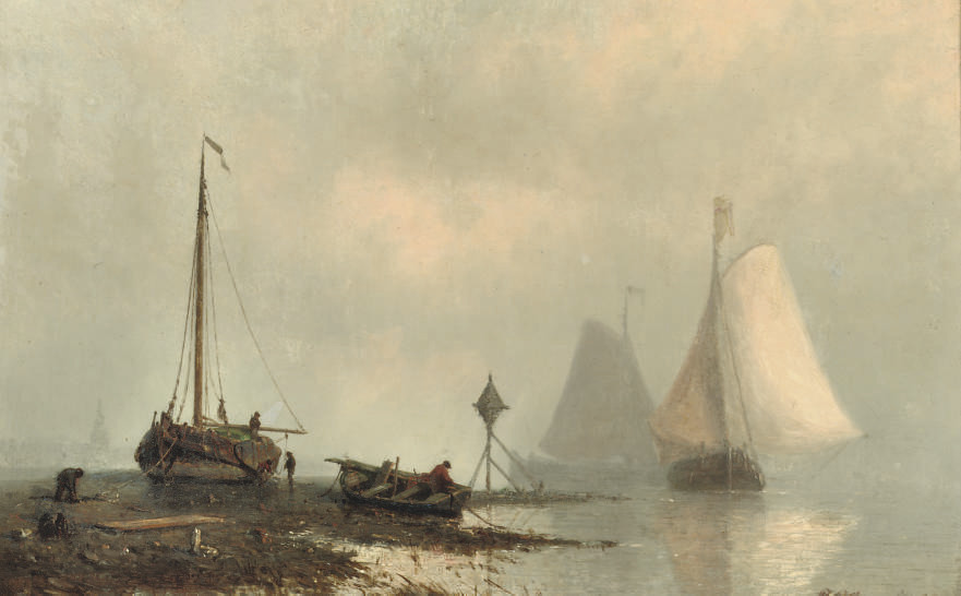 Vessels on a calm river