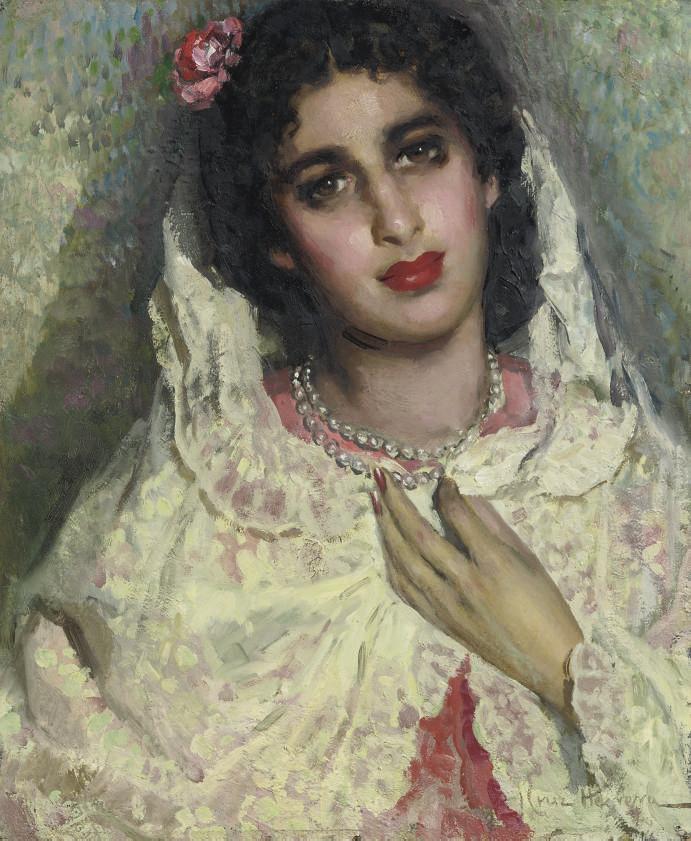 Portrait of a Spanish beauty